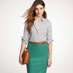 J.Crew Number 2 Pencil Skirt in Wool Blend